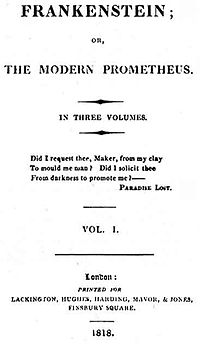 Frankenstein first edition 1818