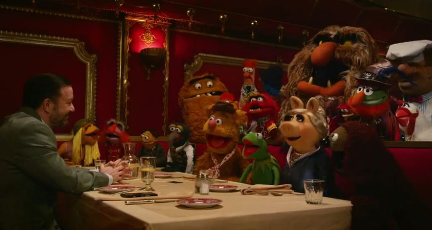 Muppets Most Wanted and Gervais