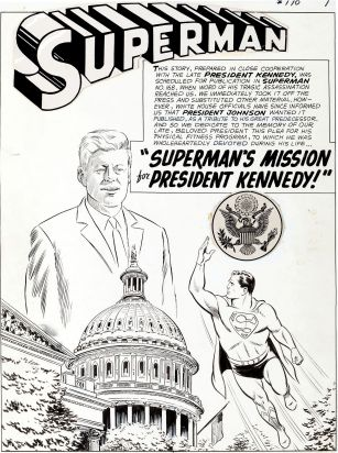 original Superman Kennedy comic book art