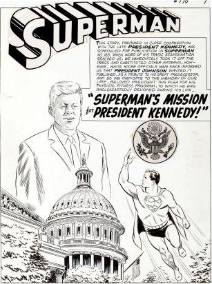 original Superman Kennedy comic book art