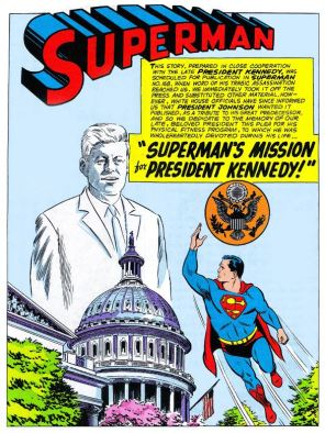original Superman Kennedy page as published