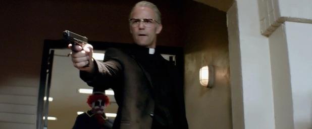 Parker as priest