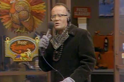 WKRP Nessman reporting Thanksgiving stunt