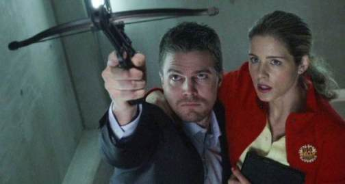 Oliver Queen and Felicty Smoak from Arrow