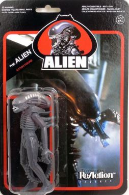 Alien ReAction action figure xenomorph card