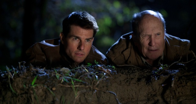 Duvall and Cruise in Jack Reacher