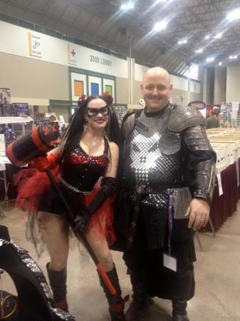 Medieval Punisher and Harley Quinn at Planet Comicon 2013