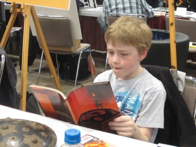 Reading at Planet Comicon