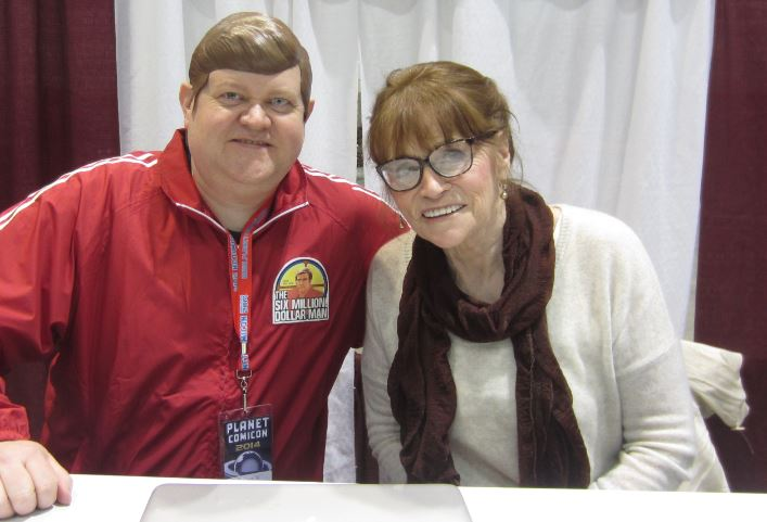 With Margot Kidder, Lois Lane from the 1970s Superman movies starring