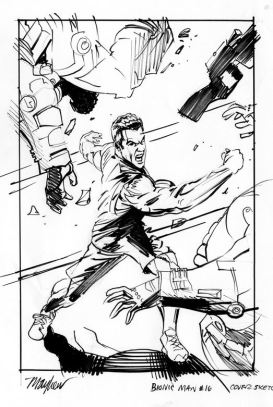 Bionic Man 16 original cover art Mike Mayhew