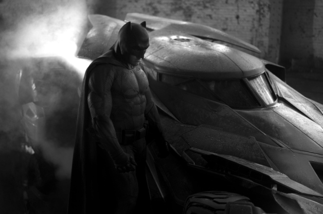 Affleck as Batman and new Batmobile