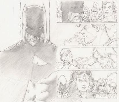 Cascioli Batman Affleck suit Zack Snyder Trials of Shazam original art CJ Bunce