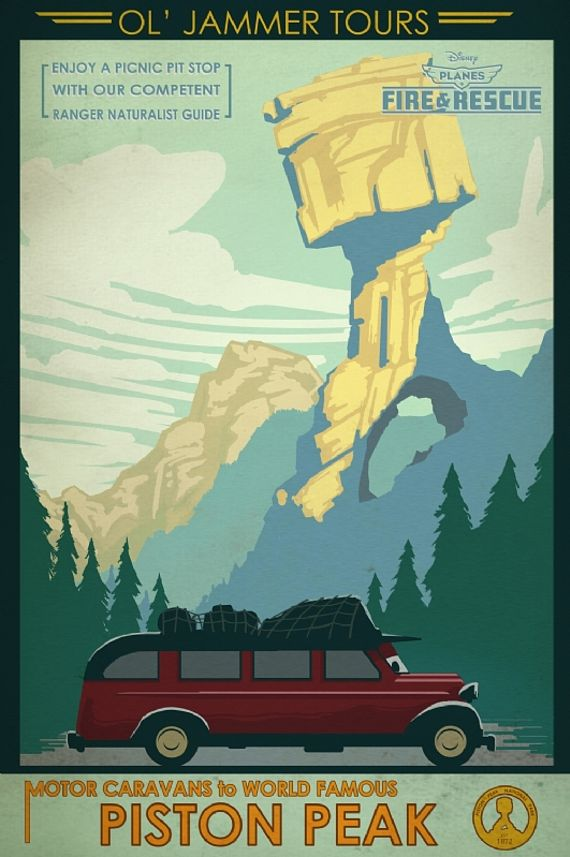 Classic Art Deco National Parks imagery inspires posters for