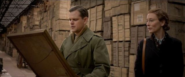 Blanchett and Damon in The Monuments Men