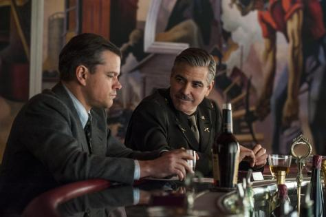 Damon and Clooney in The Monuments Men