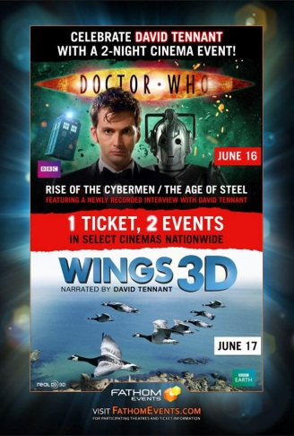 Fathom Doctor Who Wings ticket ad