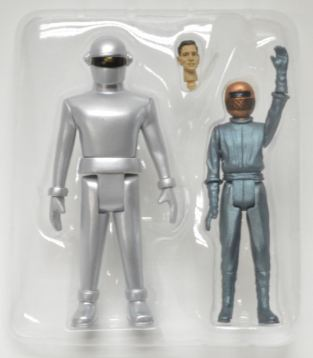 Gort and Klaatu figure bubble with extra head