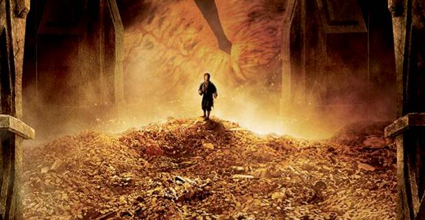 The Hobbit Smaug gold