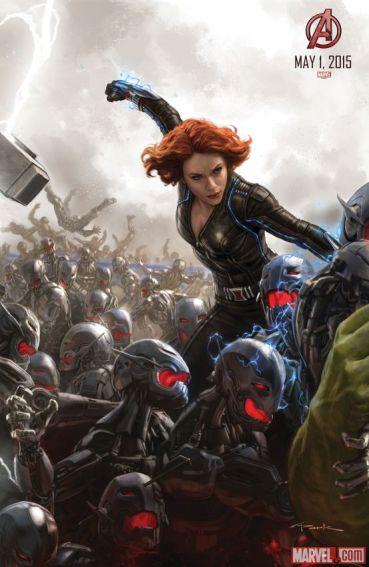 Age of Ultron concept art SDCC 2014 black Widow