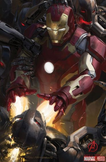 Age of Ultron concept art SDCC 2014 Iron Man