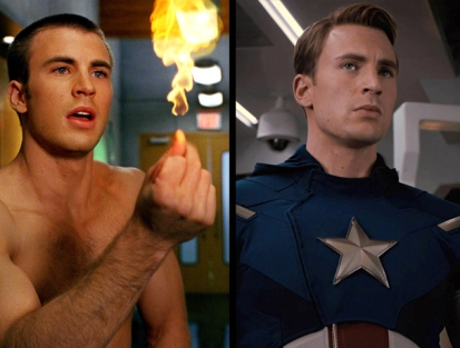 Chris Evans Human Torch Captain America