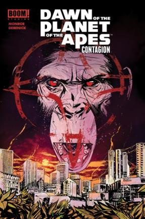 Dawn of the Planet of the Apes Contagion SDCC 2014 cover variant