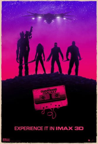 Guardians of the Galaxy 3d poster SDCC 2014