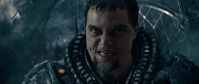 Shannon as angry Zod