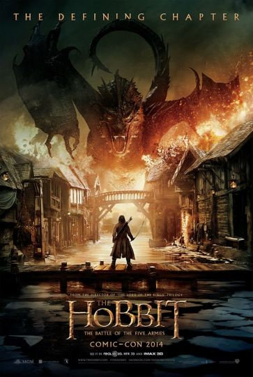 The Hobbit Battle of Five Armies SDCC 2014 poster