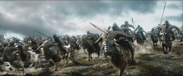 War goats The Battle of the Five Armies The Hobbit