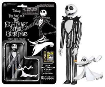 Jack Skellington Nightmare Before Christmas SDCC 2014 black white variant