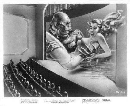 Original Creature from the Black Lagoon lobby card advertising 3D