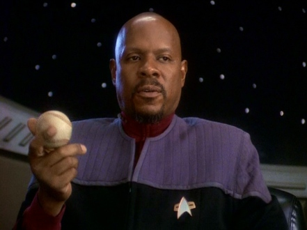Sisko and his baseball on DS9