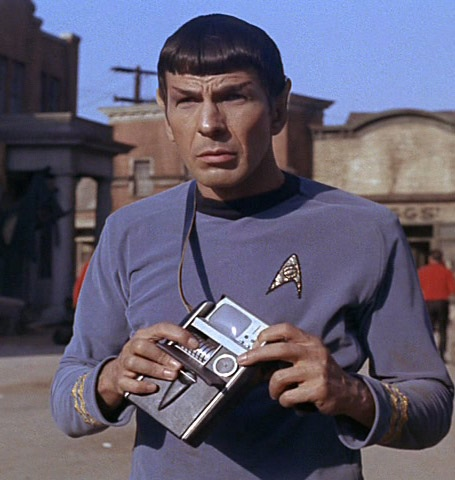 Spock with tricorder