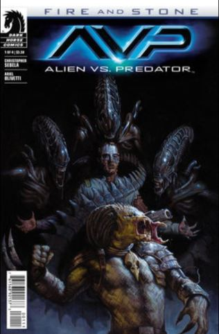 Aliens vs Predator Fire and Stone issue 1 cover
