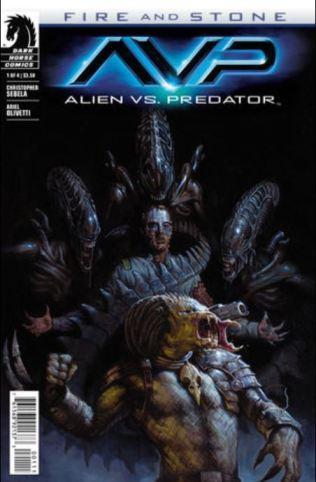 Aliens vs Predator Fire and Stone issue 1 cover
