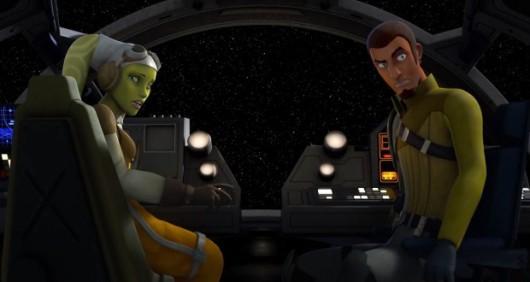 animated Kanan and Hera from Star Wars Rebels