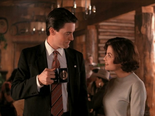 Dale Cooper and Audrey on Twin Peaks