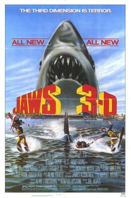 Jaws 3-D movie poster 1983