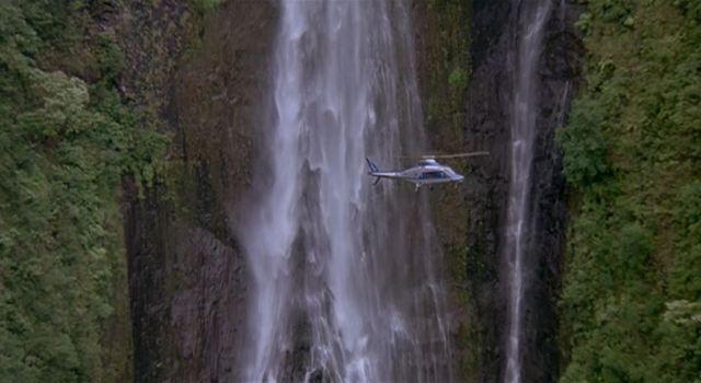 Jurassic Park helicopter landing