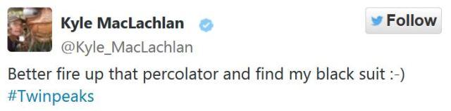 Kyle MacLachlan Twitter Twin Peaks return