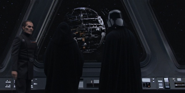 Overlooking the construction of the first Death Star