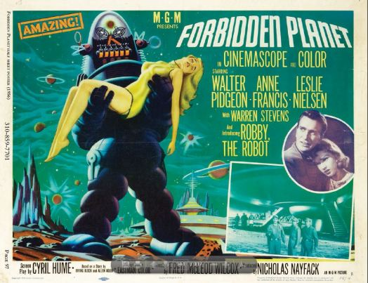 Forbidden Planet lobby card