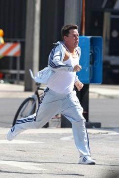 Mark Wahlberg track suit Six Billion Dollar Man running
