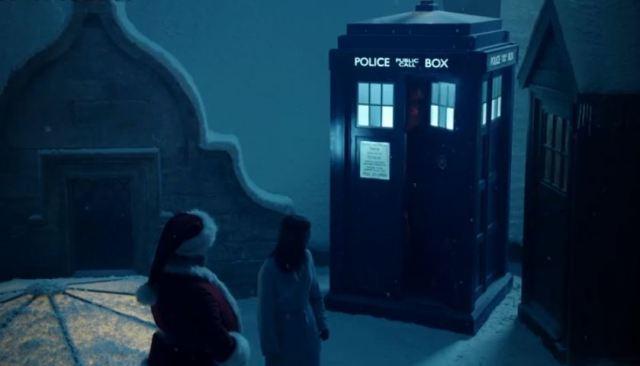 TARDIS and Santa and Clara