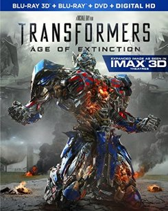 Transformers Age of Extinction 3d blu-ray cover