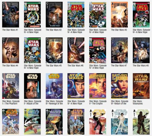 Star Wars mega bundle excerpt Dark Horse