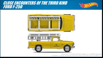 Close Encounters truck Hot Wheels design