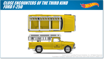 Close Encounters truck Hot Wheels design