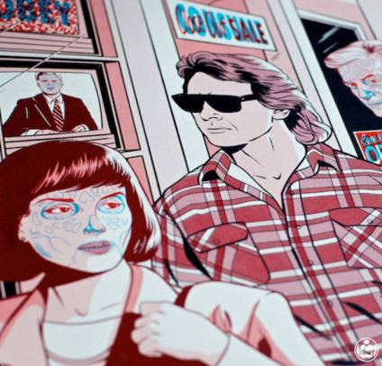 Matthew Skiff They Live print close-up
